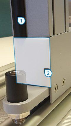 1. EPDM- Material 2. keine Kappen oder Gummis alles volles Aluminium