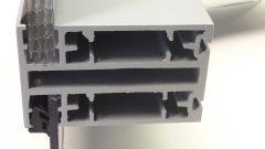 Profile 50mm x 80mm mit Mischverglasung 10mm Mehrkammerplatte und 4mm Polycarbonat Klarglas.